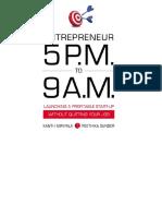 Entrepreneur 5 P M to 9 a M Launching
