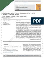Gravitatingtorigidity:Patternsofschemaevolution – and its absence – in thelivesoftables