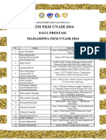 Data Prestasi FKM 2016