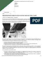 Predimensionamiento de Puentes Mixtos Tipo Cajón. _ Estructurando
