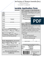 b Swa Membership Applicationform