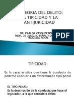 Del Delito Tipicidad - Antijuricidad
