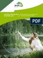 Textile Specialties Postive List CA 1 August 2014 Version 2