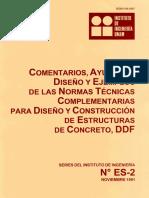 Comentarios y Ejercicios de Diseño Normas de Concrerto 1991