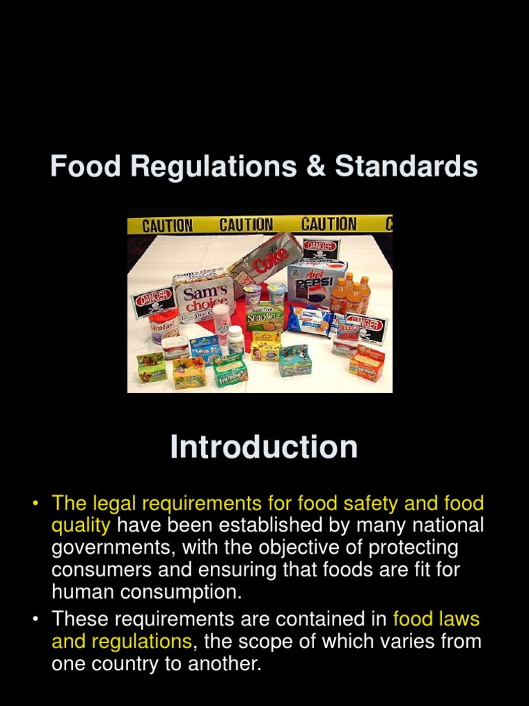 food and safety standards