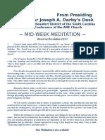 The Beaufort District Mid-Week Meditation for December 7, 2016