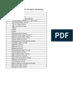 list of schools for sporting workshops.xlsx
