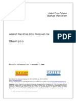 GalluP Survey Pakistan for Shampoo