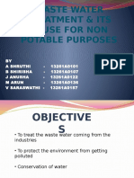 Waste Water Treatment & Its Reuse for Non Potable Purpose