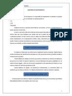 Auditorías de Mantenimiento y Cuestionario