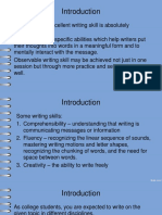 Introduction to Writing