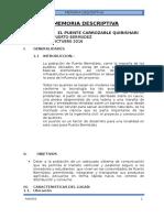 03 - Memoria Descriptiva Puente Carrozable Bajo Uruya