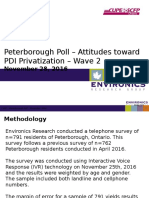 Environics CUPE PDI Privatization Peterborough Poll