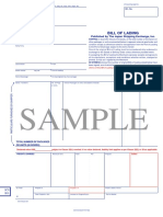 Sample Bill of Lading