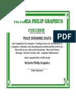 Victoria Philip Graphics College