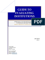 Guide to Evaluating Institutions 2013
