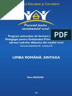 Limba Romana Sintaxa