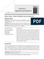 Brain drain, Talent Mobility and Academic Networking