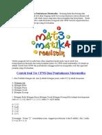 Contoh Soal Tes CPNS Dan Pembahasan Matematika