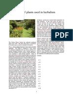 List of Plants Used in Herbalism