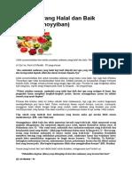 Makanan yang Halal dan Baik.docx