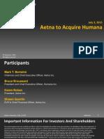 Aetna HumanaInvestorPresentation (1)