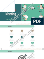 Executive Summary Overview For Meeting Slides PPT