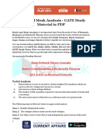 Nodal and Mesh Analysis - GATE Study Material in PDF