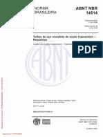 Nbr-14514 2008 Telhas Trapezoidais