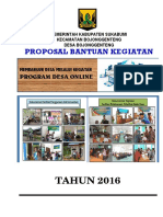 Proposal Desa Online Bojonggenteng 2016