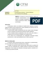 Resolução CFM Sobre Atividades Dos Academicos de Medicina