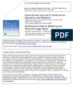 Building Information Modeling and Potential Legal Issues