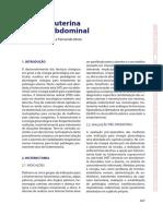 Cirurgia Uterina Por via Abdominal - Assunto Teórico
