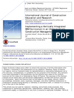Implementing a Vertically Integrated BIM Curriculum in an Undergraduate Construction Management Program