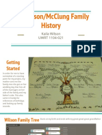 Wilson/McClung Family History