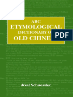 Etymological Dictionary of Old Chinese