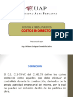 - Costos Indirectos