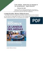 [Livre] La Langue Des Médias