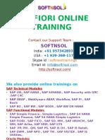 SAP FIORI ONLINE CLASSES IN INDIA