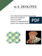 Zeolites, By Mohamad Qulam Zaki