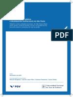 FGV. Crime, segurança pública e desempenho institucional em São Paulo. 2013..pdf
