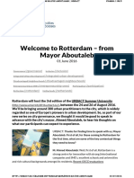 Urbact.eu Welcome Rotterdam %E2%80%93 Mayor Aboutaleb