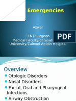 ENT Emergencies - Dr Azwar Ridwan, Sp.tht-KL(1)