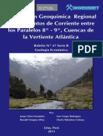 Prospección Geoquímica Regional de Sedimentos de Corriente Entre Los Paralelos 8º - 9º%2C Cuencas de La Vertiente Atlántica%2C 2011