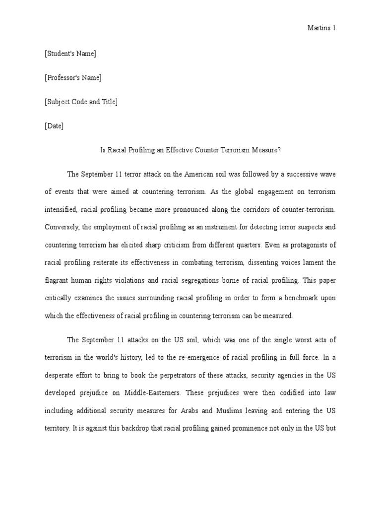 essay counter terrorism measures
