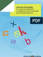 Guía de actuación en casos de agresión al personal de los centros educativos