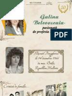 Galina Belcovscaia - pasionată de profesia bibliotecar