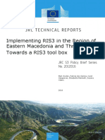 Implementing RIS3 in the Region of Eastern Macedonia and Thrace - Towards a RIS3 Tool Box
