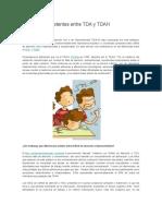 Diferencias Existentes Entre TDA y TDAH