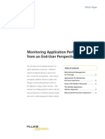 Monitoring Application Performance From an End-User Perspective